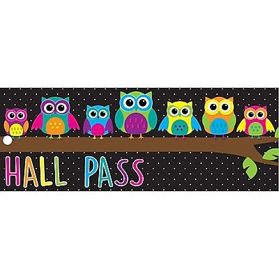 Ashley Laminated Owls Hall Pass, Bundle of 3 (ASH10669)