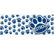 "Ashley Productions® Laminated Restroom Pass, 9"" x 3.5"", Blue Paws, Bundle of 6 (ASH10671)"