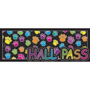 "Ashley Productions® Laminated Hall Pass, 9"" x 3.5"", Multi-Colored Paws, Bundle of 6 (ASH10686)"
