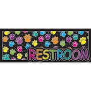 """Ashley Productions® Laminated Restroom Pass, 9"""" x 3.5"""", Multi-Colored Paws, Bundle of 6 (ASH10687)"""