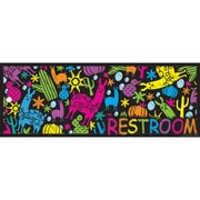 "Ashley Productions® Laminated Restroom Pass, 9"" x 3.5"", Llamas and Cactuses, Bundle of 6 (ASH10689)"