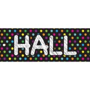 "Ashley Productions® Laminated Hall Pass, 9"" x 3.5"", Chalk Dots, Bundle of 6 (ASH10692)"