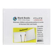 "Ashley® White Hardcover Blank Book, 6-1/8"" X 8-3/8"""