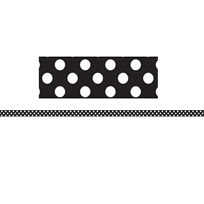 Ashley Productions Mini Magnetic MAGI-STRIPS, Black & White Dots (12 x .375)