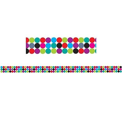 Ashley Productions Big Magnetic Border, Color Dots (24 x 2.5)