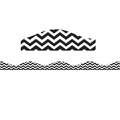 Ashley Productions Big Magnetic Border, Black Chevron (24 x 2.5)