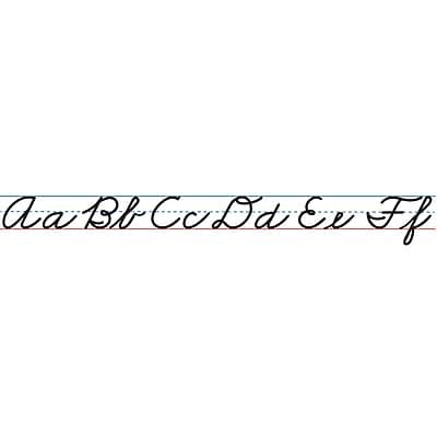 Ashley Productions Magnetic Cursive Alphabet Lines, Large, 5/Pack (ASH11307)