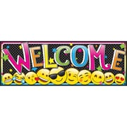 """Ashley Productions 6"""" x 17"""" Magnetic Emoji Welcome Banner (ASH11310)"""