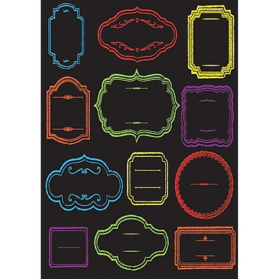 Ashley Productions Large Die-Cut Magnetic Chalkboard Class Subjects (ASH19003)