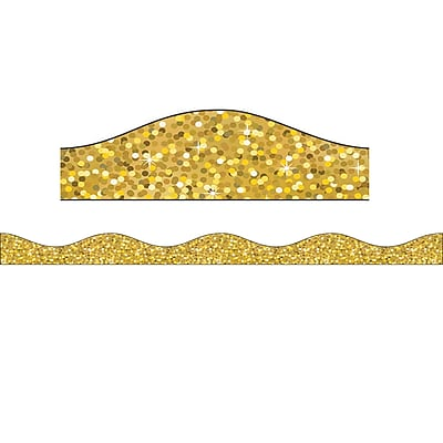 Ashley Productions Magnetic Border, Gold Sparkle (15 x 2.5)