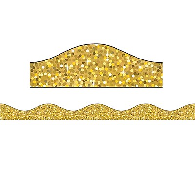 Ashley Productions Big Magnetic Border, Gold Sparkle (24 x 2.5)