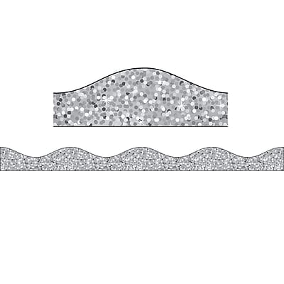 Ashley Productions Big Magnetic Border, Silver Sparkle (24 x 2.5)