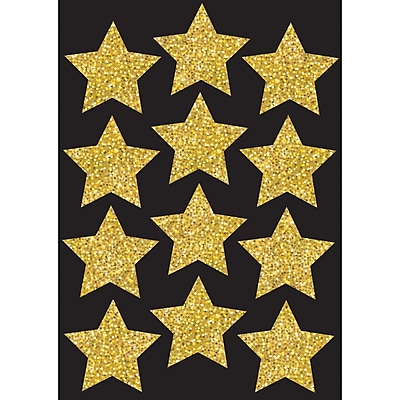 Ashley Productions Die-Cut Magnets, Gold Sparkle Stars, 3