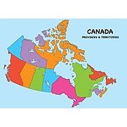 "Ashley® Magnetic Canada Map Chart, 12"" x 17"" (ASH77014)"