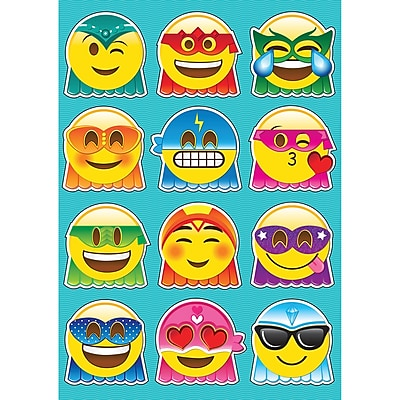 Ashley Super Emoji Die Cut Magnets Assorted Colors, 8.25