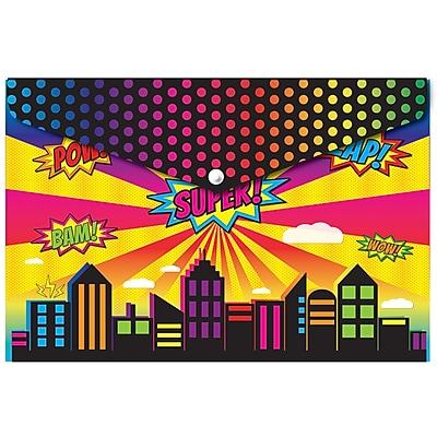 Ashley Decorated Poly Folder Super City, 8.5