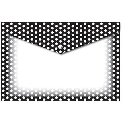 Ashley Decorated Poly Folder BW Dots, 8.5