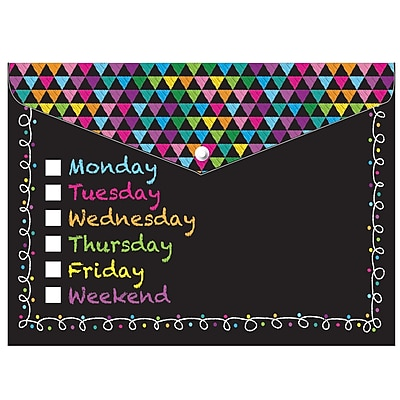 Ashley Decorated Poly Folder Chalk Days of The Week Decorated, 8.5