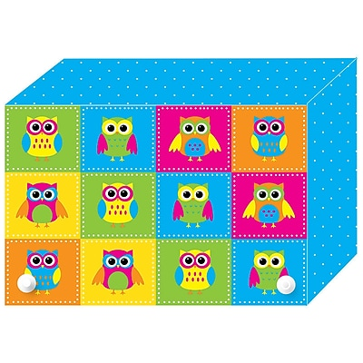 Color Owls Index Card Boxes 3x5IN Decorated Poly, 6/set(ASH90302)