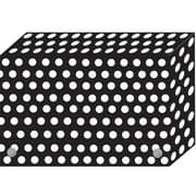 """BW Dots Index Card Boxes 4x6"""" Decorated Poly, 6/set (ASH90401)"""