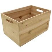 Cathay Importers Rectangle Storage Crates, Dark Honey (EC-10-2288)