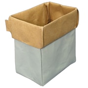 Cathay Importers Eco-Friendly 2-Tone Paper Rectangle Storage Basket, Extra Small (EC-21-0057)