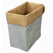 Cathay Importers Eco-Friendly 2-Tone Paper Rectangle Storage Basket, Small (EC-21-0058)