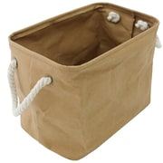 Cathay Importers Eco-Friendly Paper Rectangle Storage Basket, Brown, Medium (EC-21-0069)