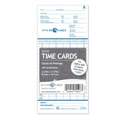 Pyramid Time Systems® Bilingual Two-Sided Monthly Time Cards 42415F for 2000 Series Time Clocks, 100/Pack