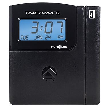 Pyramid – Système d'horodateur à cartes magnétiques USB/sériel série TimeTrax™ EZ, avec logiciel, pour 25 employés, noir (TTEZ)