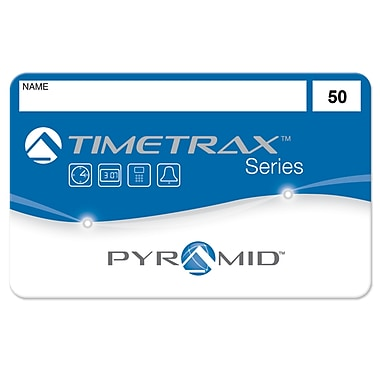Pyramid Time Systems® TimeTrax™ Swipe Cards 41303 for TTEZ, TTEZEK, PSDLAUBKK Time Clocks #26-50, 25/Pack