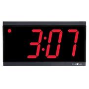 Pyramid Synchronized RF Wireless Black Bezel; red digit 4-Digit LED Digital Clock (9D44BR)