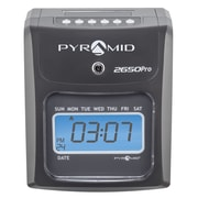 Pyramid Time Systems 2000 Series Unlimited Employee Auto Aligning Manual Punch Time Clock, Charcoal (2650)