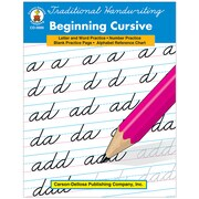 "Carson Dellosa® ""Traditional Handwriting: Beginning..."" Grade 1st-3rd Resource Book, Language Arts"