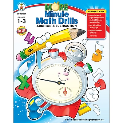 Math Drills, Carson-Dellosa More Minute Math Drills, Grades 1-3