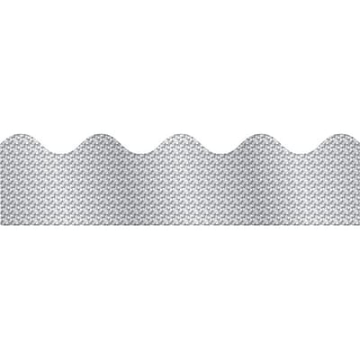 Carson-Dellosa Silver Sparkle Borders, Scalloped (36 x 2.25) (CD-108098)