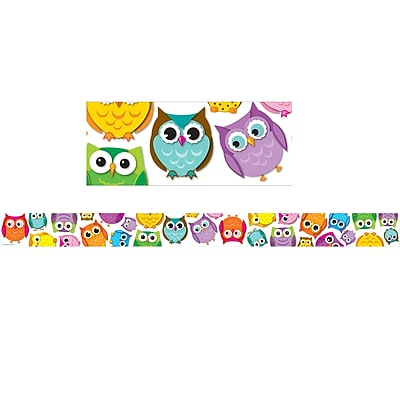 Carson-Dellosa Colorful Owls Straight Border (36 x 3)
