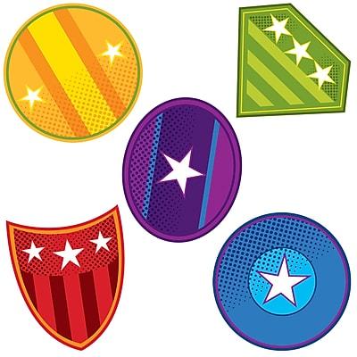 Carson Dellosa Super Power Shields Cut Outs, 3.5