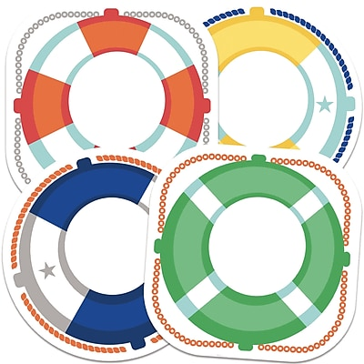 Carson-Dellosa Life Preservers Colorful Cut-Outs, 36/Pack (CD-120517)