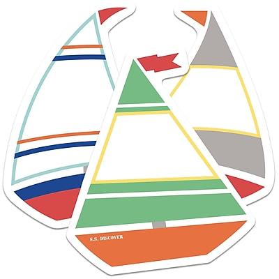 Carson-Dellosa Sailboats Mini Colorful Cut-Outs, 35/Pack (CD-120521)