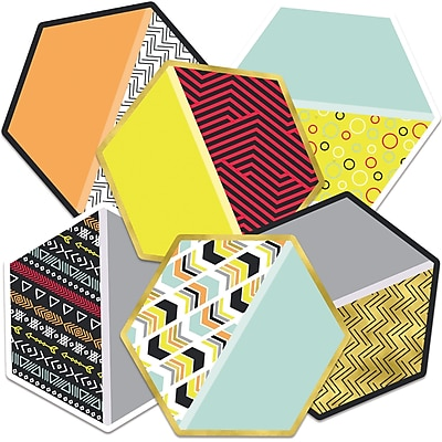 Carson-Dellosa Hexagons Colorful Cut-Outs, 36/Pack (CD-120531)