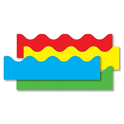 Border Set Scalloped 4 Pack Red Yellow Green Blue