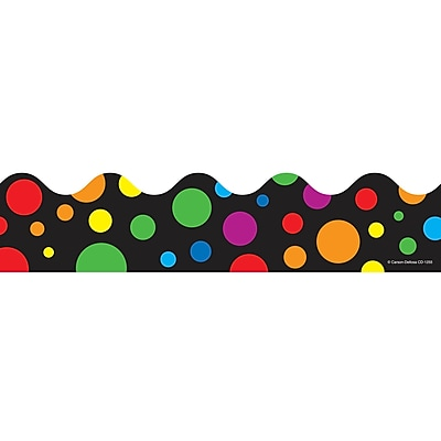 Big Rainbow Dots Scalloped Border