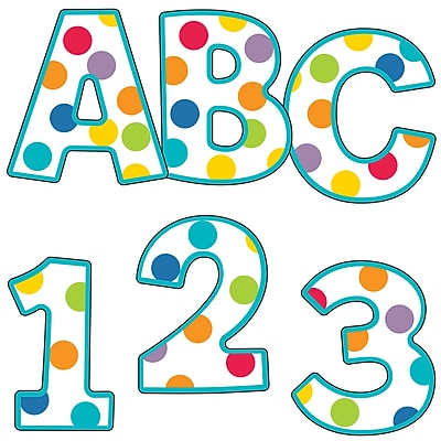 Carson-Dellosa Color Me Bright EZ Letters, 152 Pieces (CD-130054)