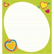 Bright Hearts Notepad, 50 Sheets Per Pad, Bundle of 6