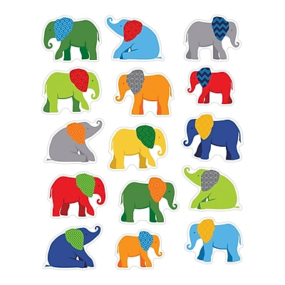 Parade of Elephants Shape Stickers, Pack of 90 (CD-168186)