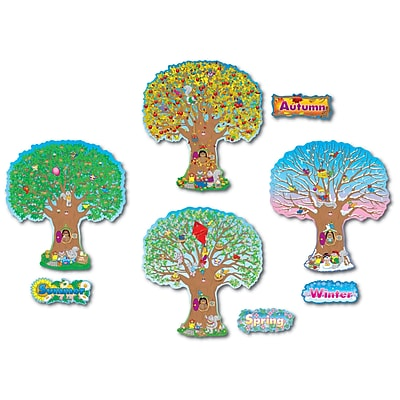 Carson Dellosa® Bulletin Board Set, Four Seasons Trees