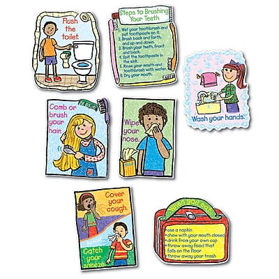 Hygiene: Kid-Drawn Bulletin Board Set