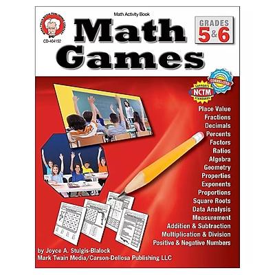 Carson-Dellosa Math Games Resource Book, Grades 5-6