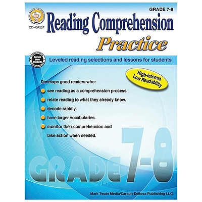 Carson-Dellosa Reading Comprehension Practice, Grades 7-8 (CD-404257)